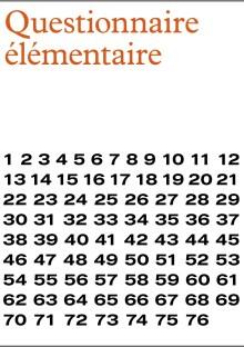 Questionnaire élémentaire - Sonia Chiambretto - Les laboratoires d'Aubervilliers