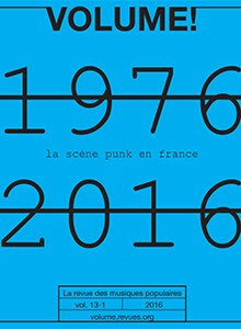 Volume ! n° 13-1 – La scène punk en France