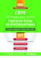 CRPE - 20 étapes pour réussir l'épreuve écrite de mathématiques De Sylvie Bernard et Vincent Carillion - Studyrama