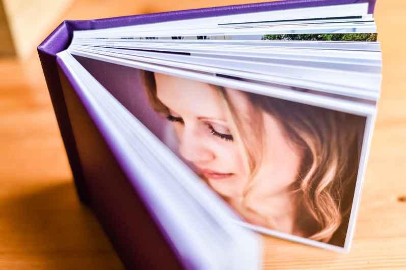 Purple dorset wedding album