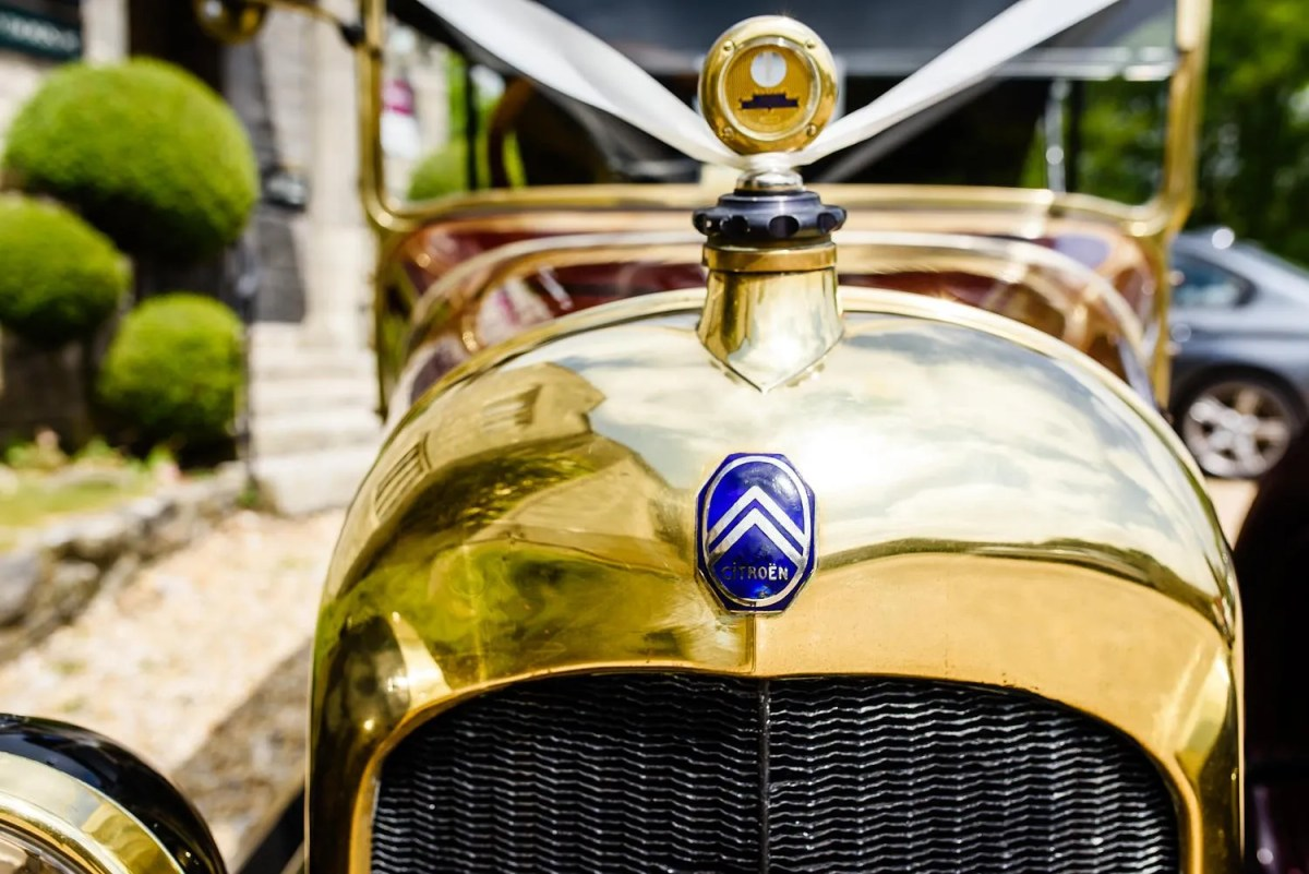 Vintage Citroen wedding car