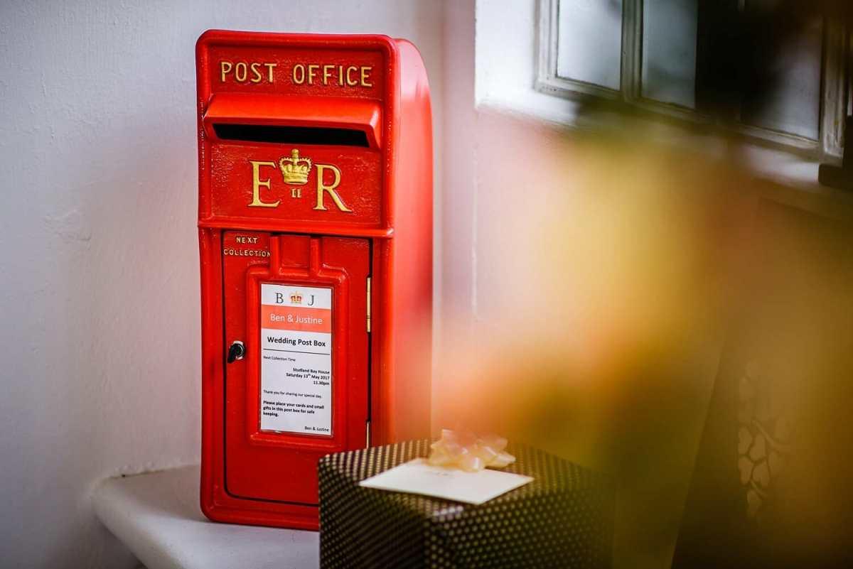 red Wedding postbox