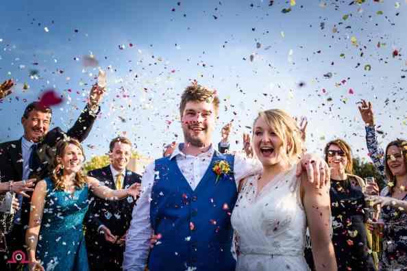 Confetti at Parley Manor Wedding