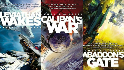 James S.A. Corey's The Expanse series includes Leviathan Wakes, Caliban's War and Abaddon's Gate.