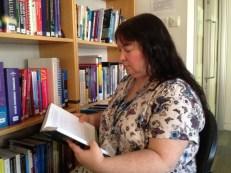 Carolyn at work