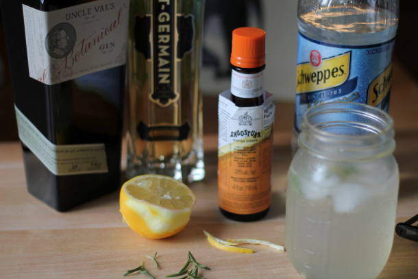 ingredients-for-gin-st-germain-cocktail