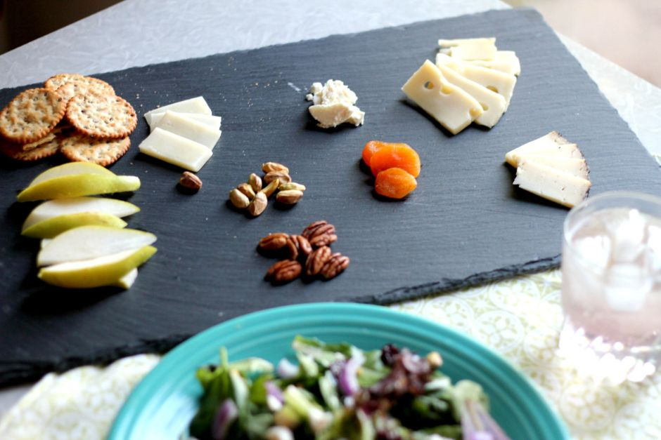 cheese board and salad