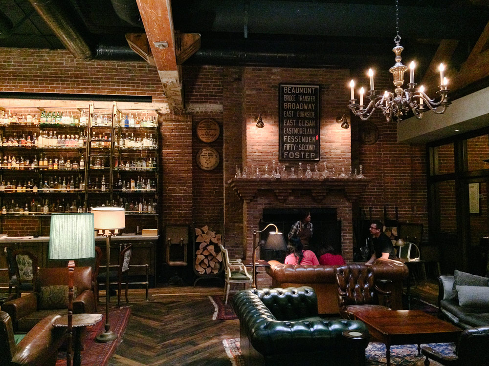 Multnomah Whiskey Library in Portland, OR