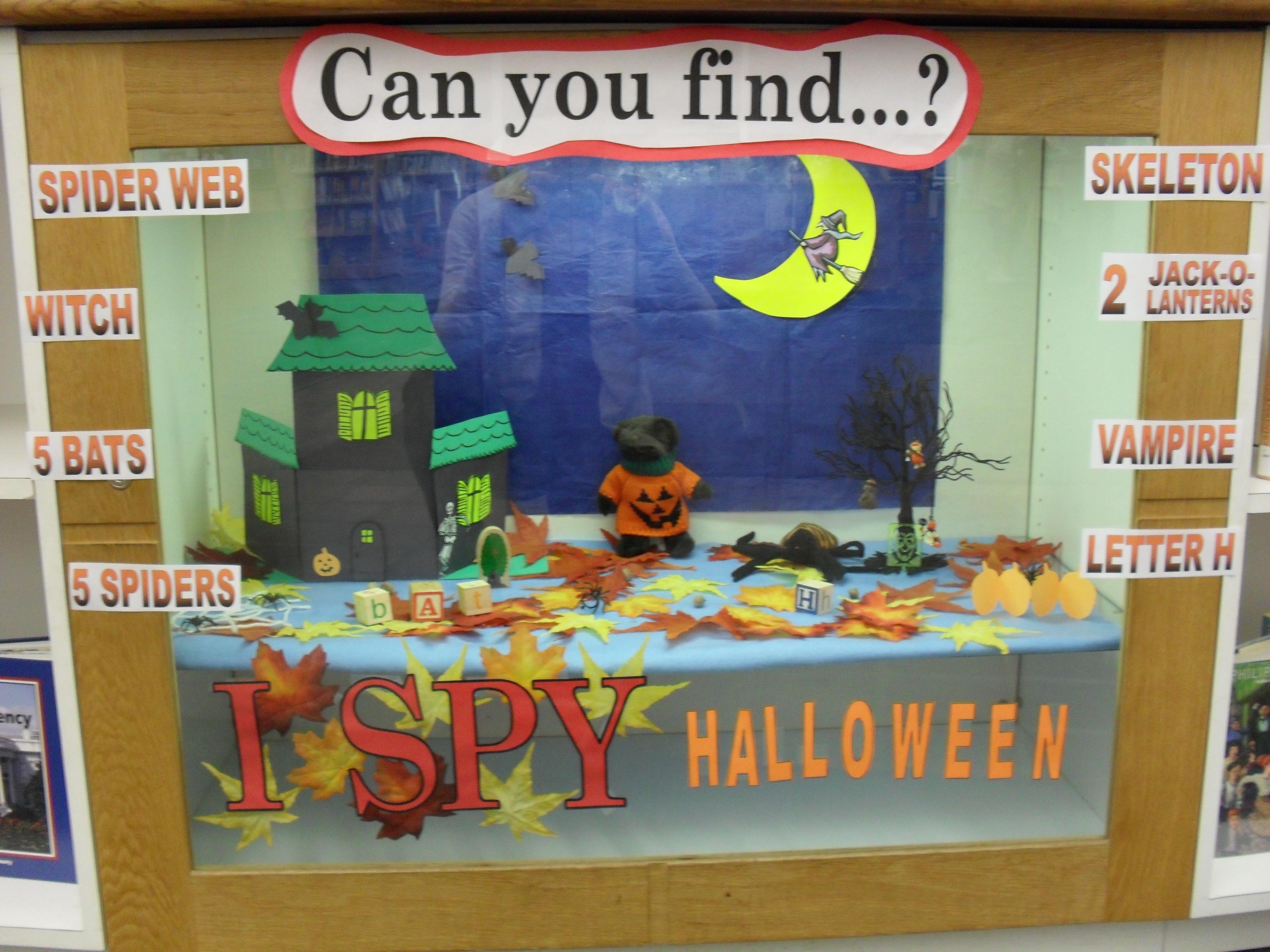 Display Case I Spy Halloween