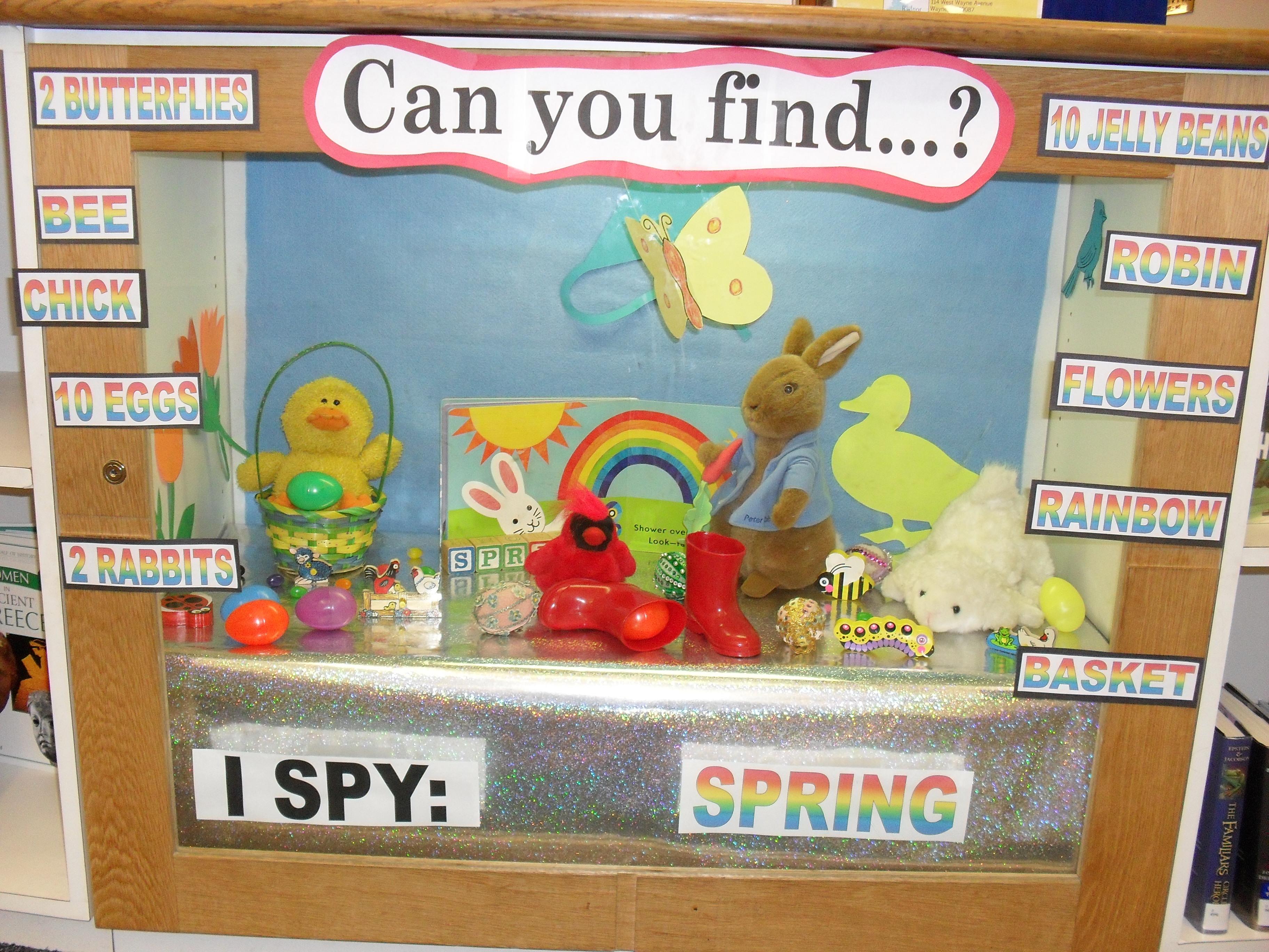 I Spy Display Case Spring