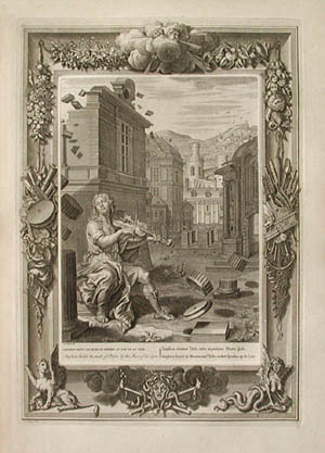 Bernard Picarts Amphion Builds the Walls of Thebes by the Music of his Lyre