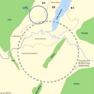 Az Alpoktól a Juráig érne és a Genfi-tó alatt is futna az új részecskegyorsító.