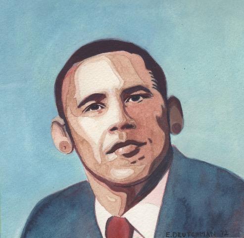 """Barack Obama """"Obama fülei olyan rohadt nagyok! Azért raktam a fülére a melleket, hogy kiemeljem a legkarakteresebb védjegyét."""""""