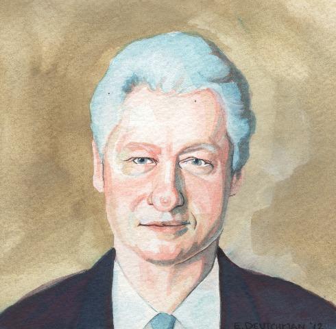 """Minden Bill Clinton karikatúrán az orrát hangsúlyozzák ki, így adta magát a dolog, hogy én is hova tegyem a cicit."""""""