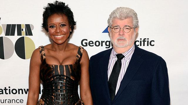 George Lucas feleségével