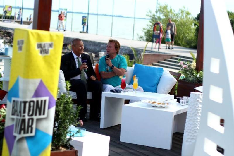 Interjú Aradszky Lászlóval a Balatoni Nyár műsorában - a kép forrása: Balatoni Nyár Facebook