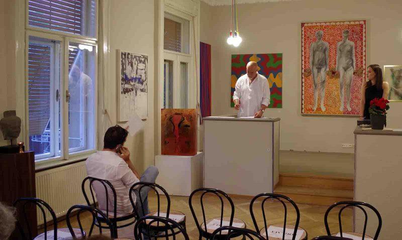 Aukció a Blitz Galéria - a szerző felvétele