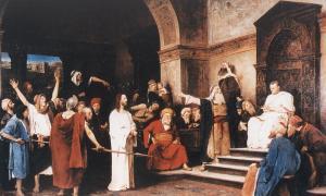 krisztus Pilátus előtt