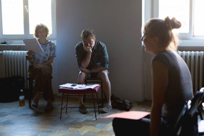 A háromfős csapat a próbán (fotó: Takács Attila)