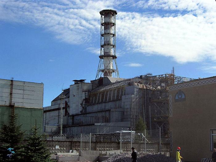 Csernobil, a jelenlegi szarkofág. Fotó: Carl Montgomery - Flickr, CC BY 2.0,