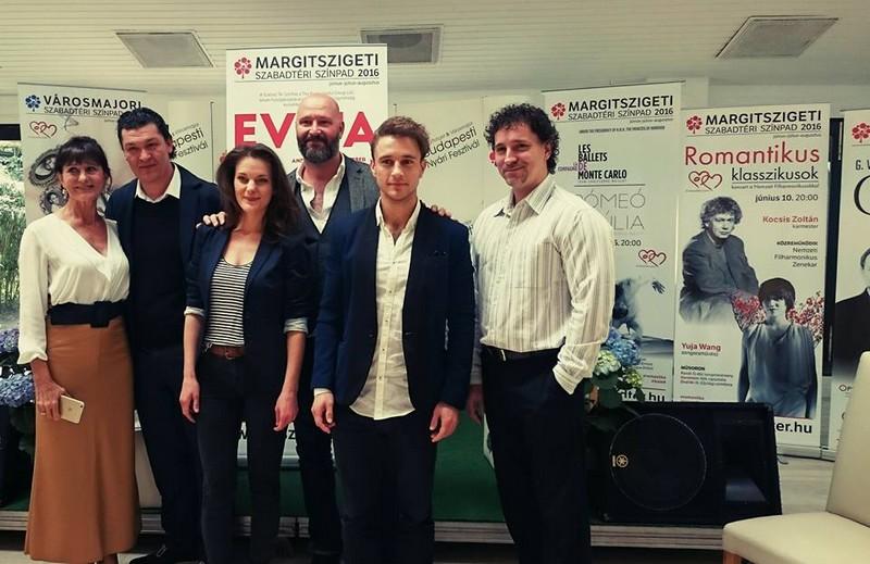 Az Evita sajtótájékoztatóján