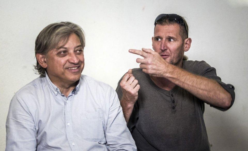 Badár Sándor és Horváth János, színművészek. MTI Fotó: Szigetváry Zsolt
