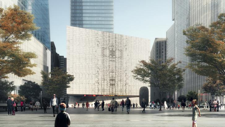 Áttetsző márványkocka lesz a WTC helyén