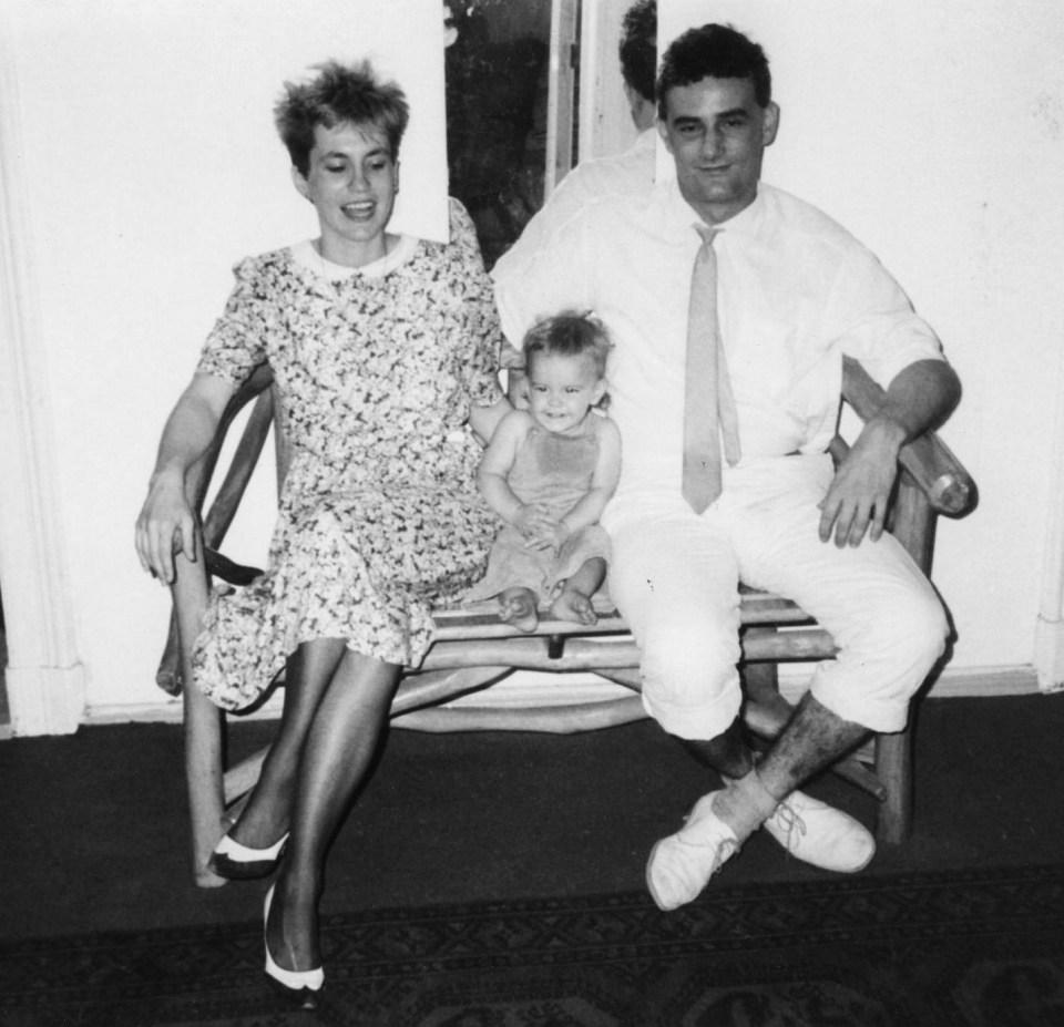 Feleségével és Gáspár fiúkkal 1982-ben, Berlinben