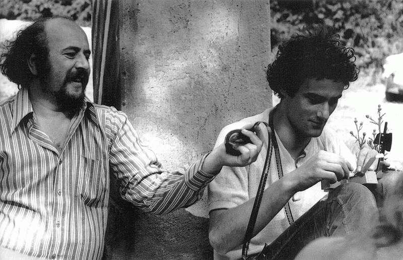 """Erdély Miklós és Bódy Gábor a ,,Direkt héten"""", Kápolnaműterem, Balatonboglár, 1972. július 8. (fotó: Gulyás János)"""