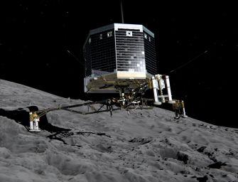 Emberi szem először látja: hegyomlás az üstökösön