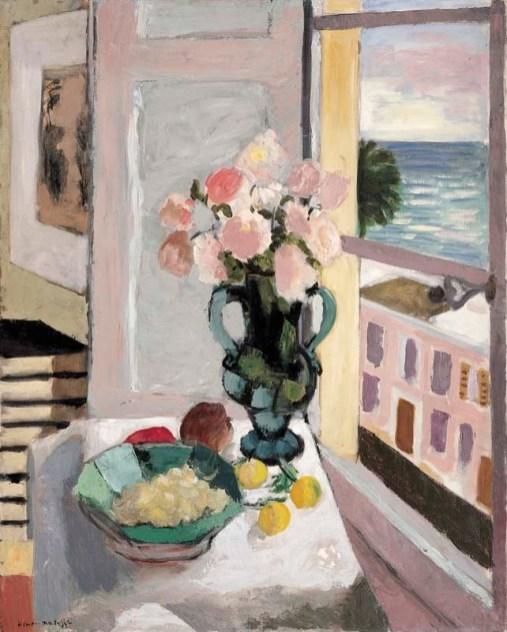 Safrano rózsák az ablakban, 1925