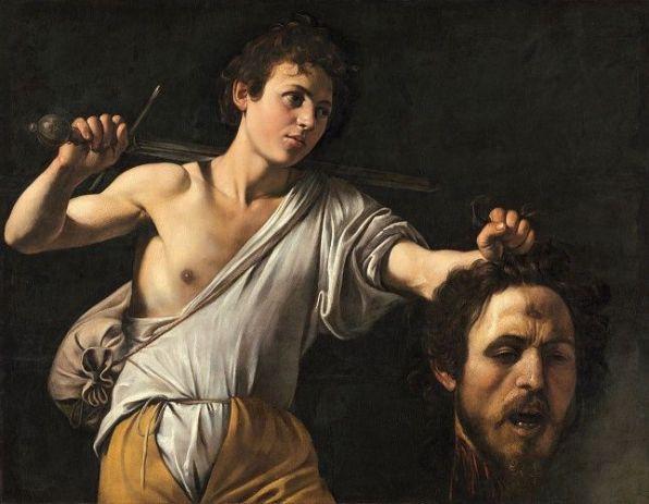 Caravaggio: Dávid Góliát fejével