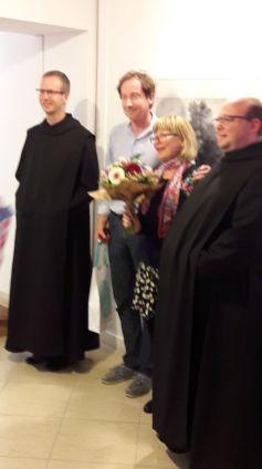 Balról jobbra Mihályi Jeromos, Kohán Ferenc, Röhrig Eszter, a művész felesége