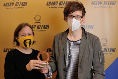 Arany Blende díjátadó 2020 Szőcs Petra és Nagy V. Gergő, fotó: Czirják Pál