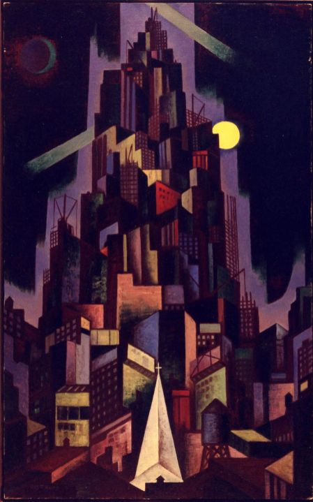 Emil Bisttram Metropolis 1929