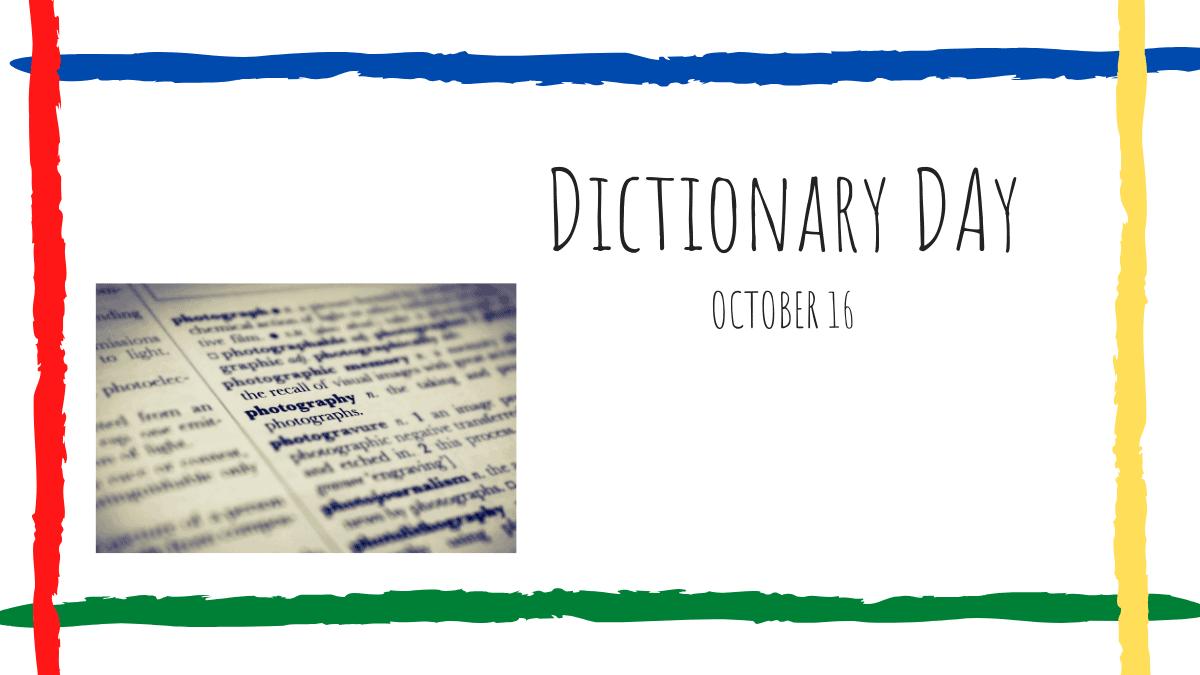Dictonary Day