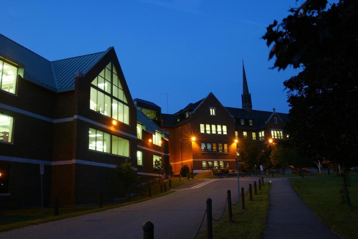 Wishart Library at Night