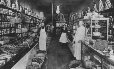 Interior Of Grocery Store Hekman Digital Archive