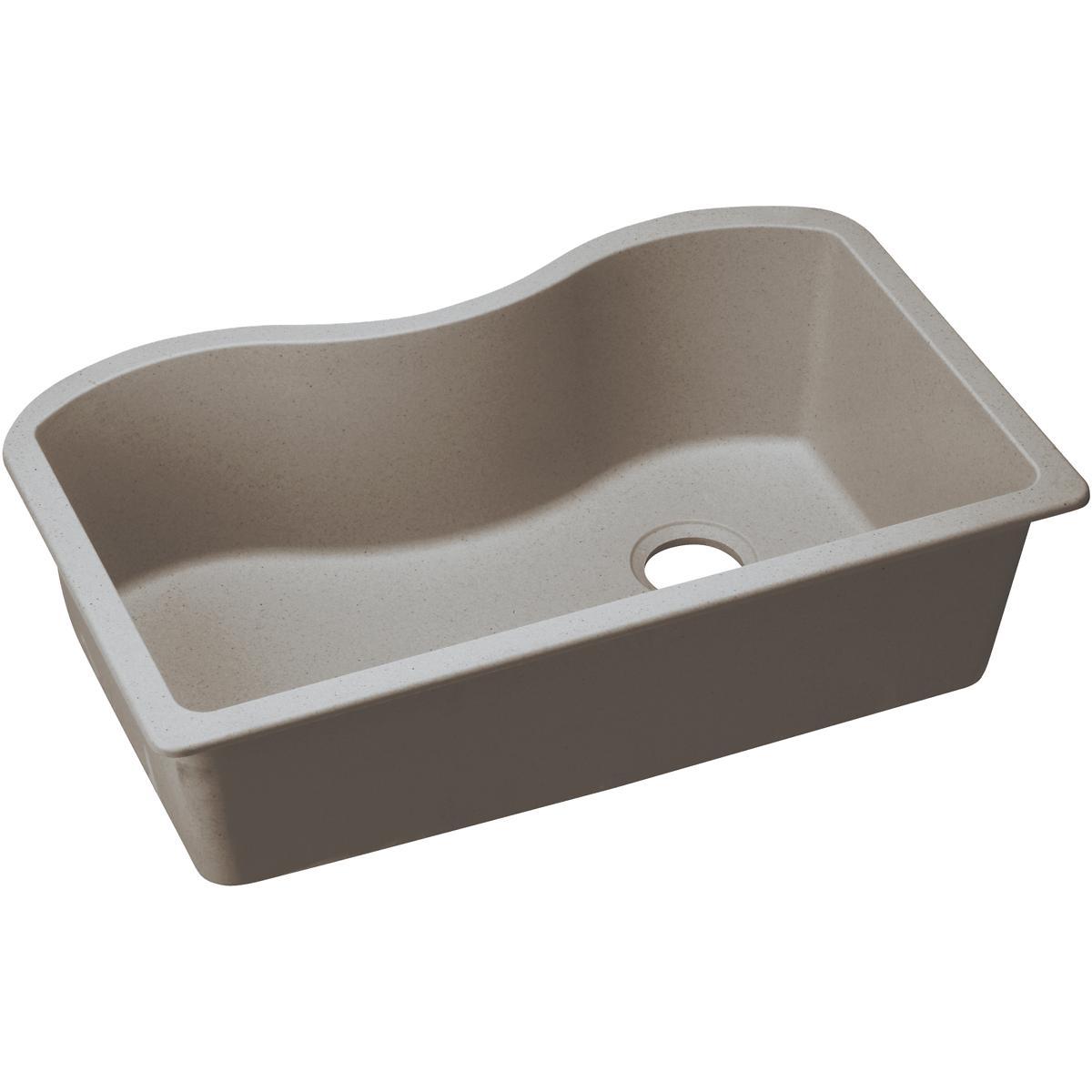 elgus3322rgr greige quartz classic 33 x 20 x 9 5 single bowl undermount kitchen sink