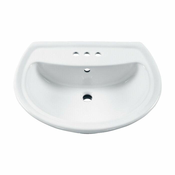 0236004020 american standard white cadet 3 hole 4 in centerset pedestal sink