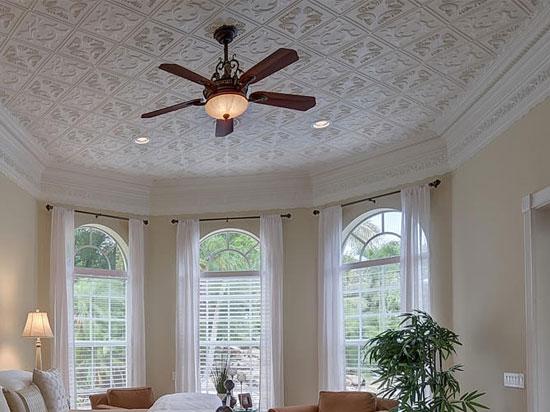 Diamond Wreath Styrofoam Ceiling Tile 20x20 R02