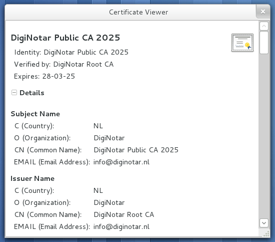 Viewer for certificates and key files