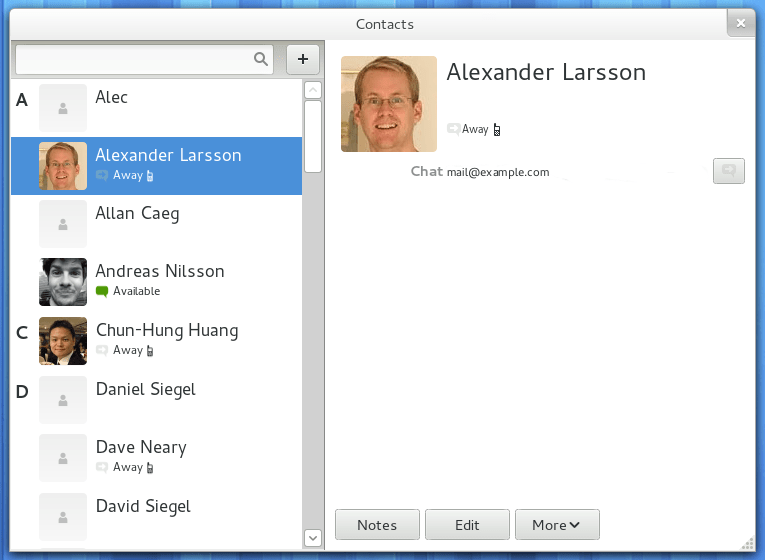 Contacts Application