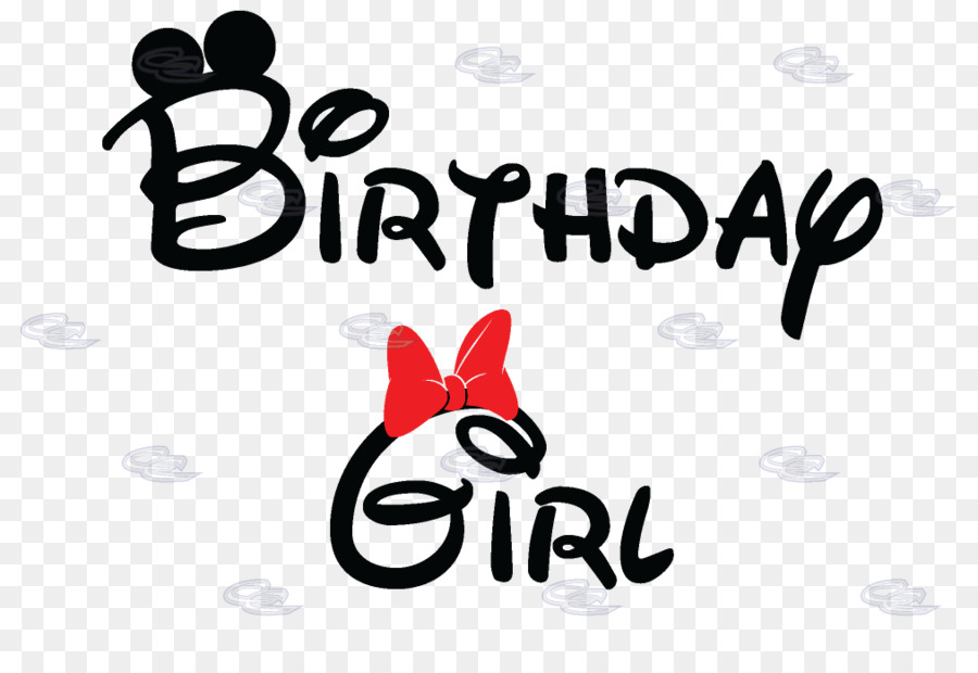 Love Black And White Clipart Birthday Mouse Text Transparent Clip Art