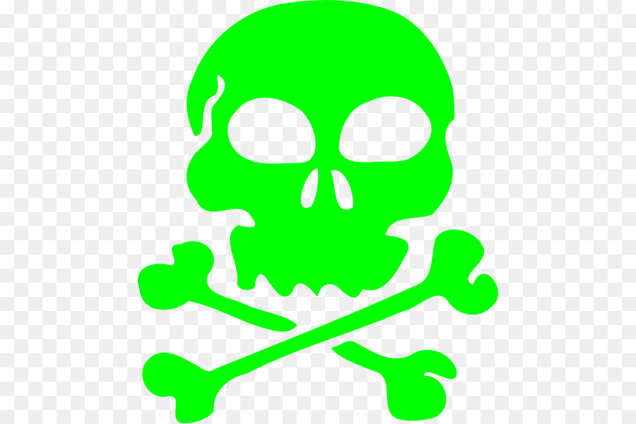 Skull And Crossbones Clipart Skull Green Leaf Transparent Clip Art