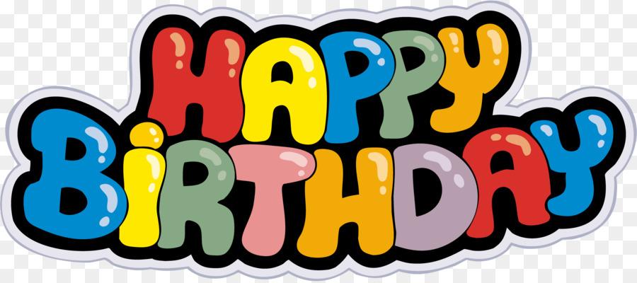 Happy Birthday Banner Clipart Illustration Birthday Text Transparent Clip Art