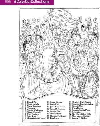 New York Academy Medicine Famous Women Coloring Sheet