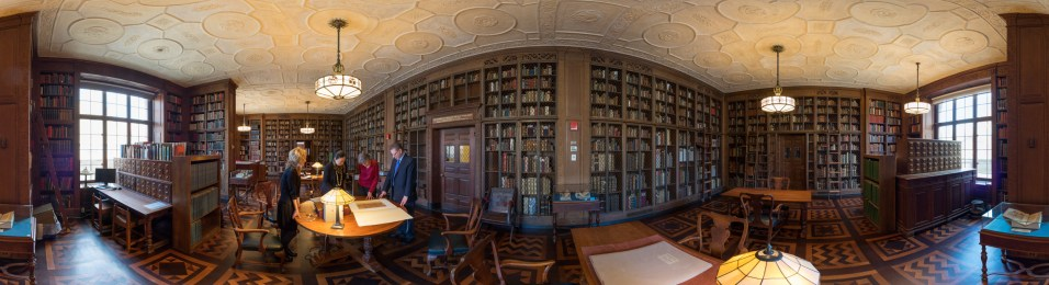 Discover the Drs. Barry and Bobbi Coller Rare Book Reading Room captured by Ardon Bar-Hana.