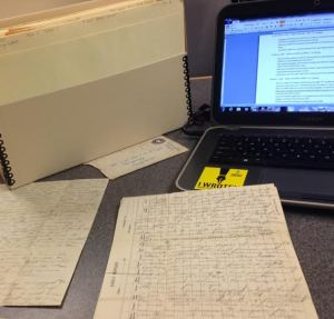 Transcribing the handwritten letter into the computer.