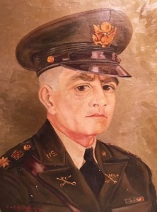 This oil portrait of Clyde E. Lamiell was painted by a German POW at Camp Forrest